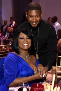 NEW YORK, NY - OCTOBER 19:  Patti LaBelle and Usher attend Angel Ball 2015 hosted by Gabrielle's Angel Foundation at Cipriani Wall Street on October 19, 2015 in New York City.  (Photo by Dimitrios Kambouris/Getty Images for Gabrielle's Angel Foundation)