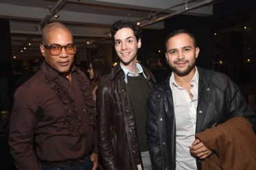 Rio Hamilton, Henry Durocher and Byron Cordero attend the Housing Works ...