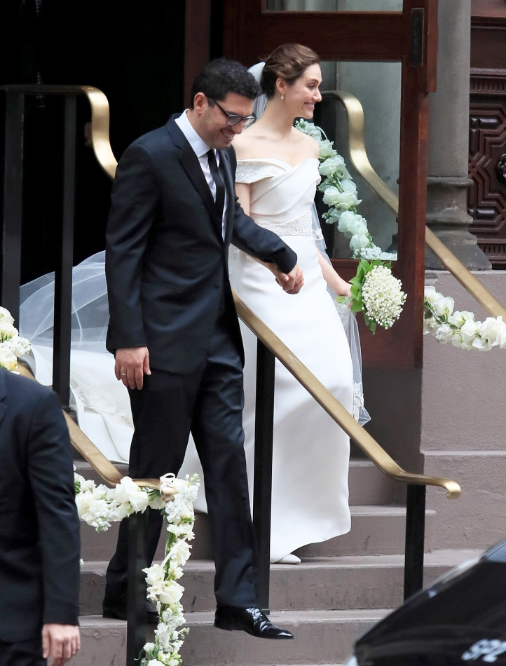 PREMIUM EXCLUSIVE: Emmy Rossum Weds Sam Esmail