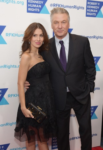 NEW YORK, NY - DECEMBER 13: Hilaria Baldwin (L) and Alec Baldwin attend Robert F. Kennedy Human Rights Hosts Annual Ripple Of Hope Awards Dinner on December 13, 2017 in New York City. (Photo by Jason Kempin/Getty Images for Ripple Of Hope Awards)