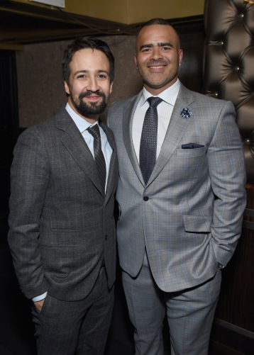 NEW YORK, NY - APRIL 30: Lin-Manuel Miranda and Christopher Jackson attend The Eugene O'Neill Theater Center's 18th Annual Monte Cristo Award Honoring Lin-Manuel Miranda at Edison Ballroom on April 30, 2018 in New York City. (Photo by Jenny Anderson/Getty Images for The Eugene O'Neill Theater Center)