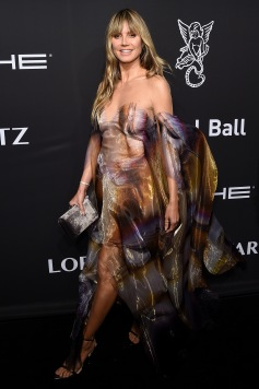 NEW YORK, NEW YORK - OCTOBER 28: Heidi Klum arrives at the Angel Ball 2019 hosted by Gabrielle's Angel Foundation at Cipriani Wall Street on October 28, 2019 in New York City. (Photo by Jamie McCarthy/Getty Images for Gabrielle's Angel Foundation)