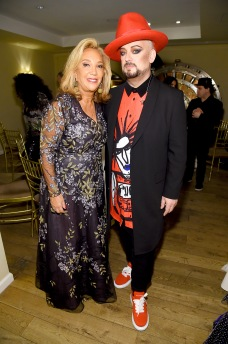 NEW YORK, NEW YORK - OCTOBER 28: Denise Rich and Boy George attend the Angel Ball 2019 hosted by Gabrielle's Angel Foundation at Cipriani Wall Street on October 28, 2019 in New York City. (Photo by Jamie McCarthy/Getty Images for Gabrielle's Angel Foundation)