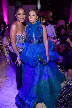 NEW YORK, NEW YORK - OCTOBER 28: Keke Palmer and Angela Simmons attend the Angel Ball 2019 hosted by Gabrielle's Angel Foundation at Cipriani Wall Street on October 28, 2019 in New York City. (Photo by Jamie McCarthy/Getty Images for Gabrielle's Angel Foundation)